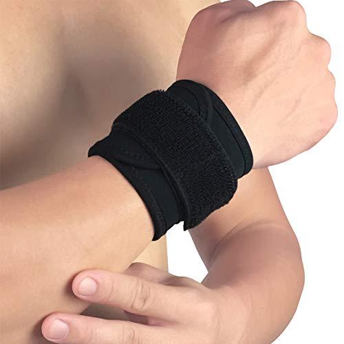 Sawpy - Soporte de muñeca - 1pc Cinturón de Abrigo elástico Ajustable Transpirable Nylon Caucho Antebrazo Protector de Correa de Mano Gimnasio Fitness Ropa Deportiva Accesorios
