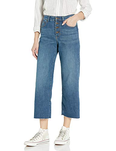 Amazon Brand - Goodthreads Women's High-Rise Wide Leg Cropped Jean, Authentic Blue 24