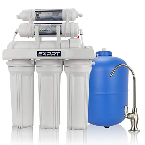 water purification systems Exprt 6 Stage Under Sink 75 GPD pH+ Reverse Osmosis Water Filter System with Alkaline Mineralizer