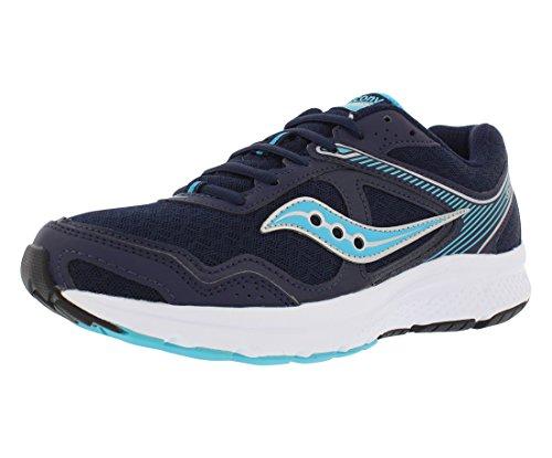 Saucony Women's Cohesion 10 Running Shoe, Navy Blue, 8.5 Medium US