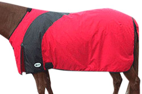 Intrepid International Prima Medium Weight Turnout Blanket, 71-Inch, Red