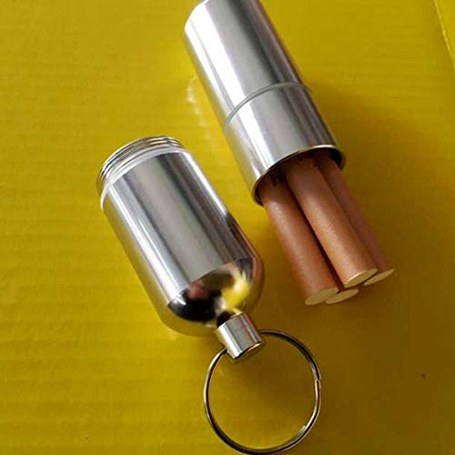 SSOLEREIT Caja de Cigarrillo Personalizada con Llavero Portátil Mini Hombre Caja Redonda Caja de Cigarrillos a Prueba de Humedad y Caja de Cigarrillo de Metal a Prueba de presión