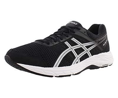 ASICS Men's Gel-Contend 5 Running Shoes, 12XW, Black/White