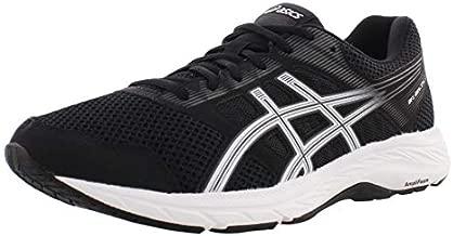 ASICS Men's Gel-Contend 5 Running Shoes, 10, Black/White