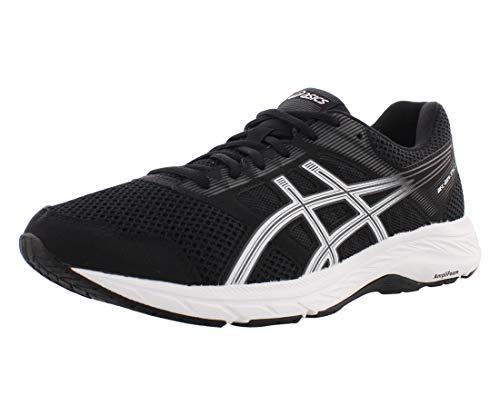 ASICS Men's Gel-Contend 5 Running Shoes, 10.5M, Black/White