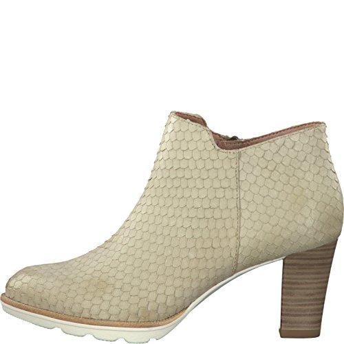 Tamaris 25309-28 481 Damen Stiefelette aus Glattleder Textilinnenausstattung, Groesse 38, beige/strukturiert