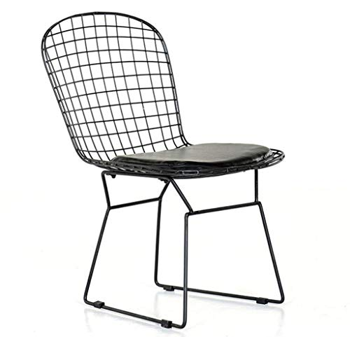 HELIn Presidente Hueco Wire Chair Silla cómoda Comedor Simple Partido Silla Personal