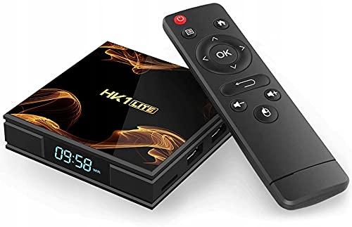 Retoo Smart TV Box mit TV Fernbedienung, Android TV-Box mit 2.4GHz Quadcore-Prozessor, Media Player mit Auflösung 4k und Full HD, Konverter (16GB 2GB RAM DDR3)