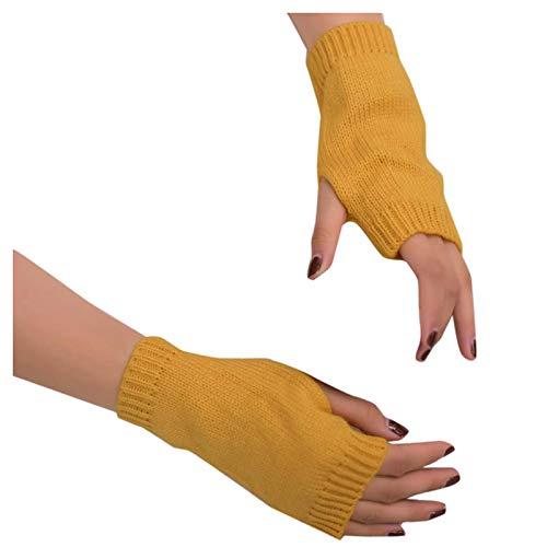 Eaylis Frauen Einfarbig Strick handschuhe Halten Sie warme Winterhandschuhe Weicher warmer Fäustling Pulswärmer Armwärmer