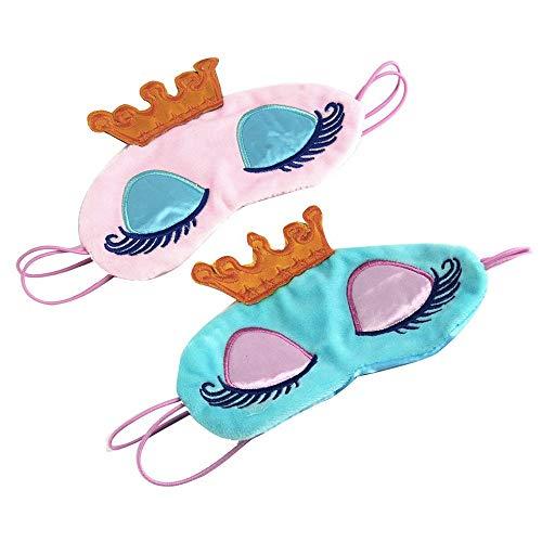 Tcrizhao Schlafen Augenmaske Schlaf, Augenbinde Eyeshade Konturierte Entwur Abdeckung Eyeshade Schlaf Reise Maske für Kinder/Erwachsene (2 stücke) Augenmuscheln