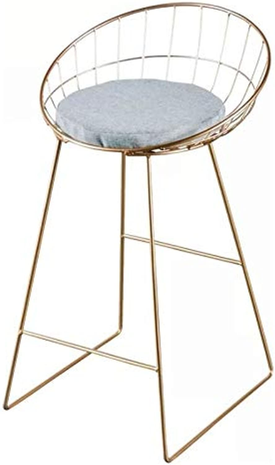 Heavenly Collection Ariel bar Stool in gold Base with White PU, Stainless Steel (33  H x 19.5  W x 21.5  D)