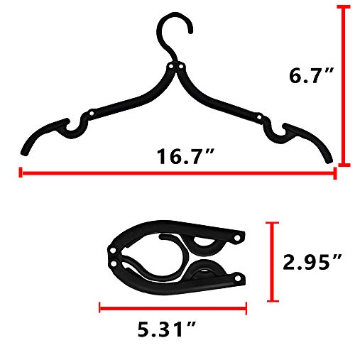 Livin' Legend Travel Hangers-Folding Clothing Hangers-Portable for Business Trip, Outdoor Adventure, Camping,Vacations