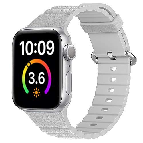 Correa de silicona compatible con Apple Watch Serie SE/6/5/4/3 bandas deportivas para Iwatch pulsera 38 mm 40 mm 42 mm 44 mm DE81025 (38 mm 40 mm, 8)