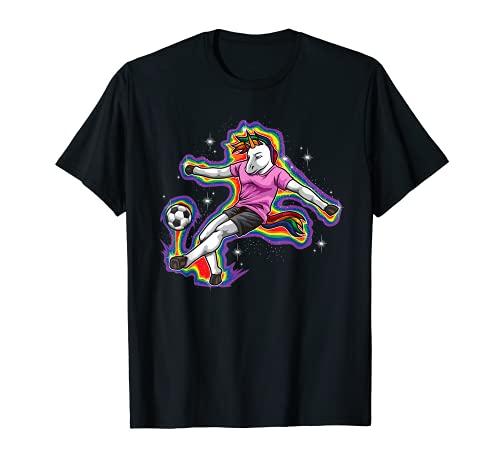El unicornio juega al fútbol - Criatura mítica y deportiva Camiseta