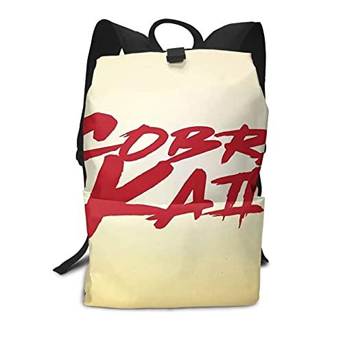 Karate Cobra Kai Retro Japonés Viaje Portátil Mochila Anti Robo Resistente al Agua Mochilas Escuela Ordenador Librero