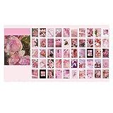 EXQULEG Juego de 50 pegatinas para álbum de fotos, calendario, cuaderno, pegatinas decorativas (W)