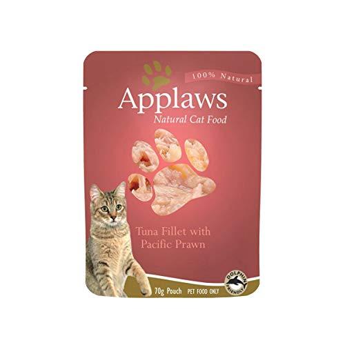 Applaws Katze Thunfisch. und Pacific Garnelen , 12er Pack (12 x 70 g)