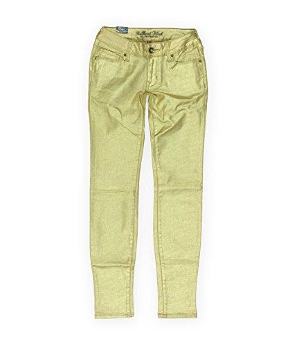 Bullhead Denim Co. Womens Premium Sparkle Skinniest Skinny Fit Jeans, Metallic, 5