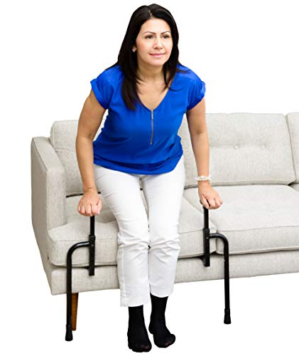 Stander EZ Stand-N-Go, Adjustable Standing Mobility Aid, Chair Assist Grab Bars with Ergonomic Stand Assist Handles, Independent Living Aid