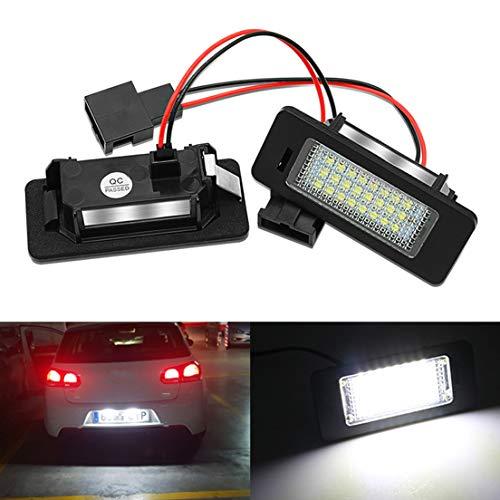 MOLEAQI 2X LED Lámpara de matrícula para Coche 8T0943021 Accesorios para Au-di A4 B8 Sedán de 4 Puertas 5 Puertas Avant S4 B8 A5 S5 Q5 TT TTRS