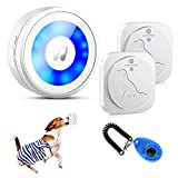 🐶 WATERPROOF TOUCH BUTTON TIGGER SIMPLE  - Small dogs no enough pressure to activate the dog doorbell? HYCTOPSON dog bell for door potty training solves the pressing problem for all size of dogs. Enlarged sensitive touch area on bells for dogs to rin...