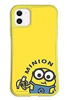 iPhone11 ケース どこでもくっつくケース WAYLLY(ウェイリー) アイフォン11ケース 着せ替え 耐衝撃 米軍MIL規格 [WAYLLY YE ミニオンズ ボブ&バナナ] セット MK