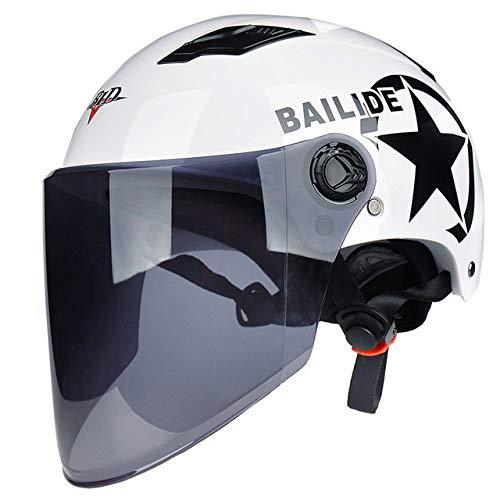 Dgtyui Estate nuovo casco da moto bicicletta elettrica scooter scooter protezione solare protezione UV casco da moto casco capacete - 15