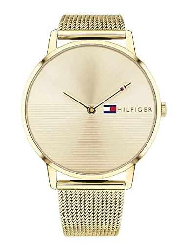 Tommy Hilfiger Damen Analog Quarz Uhr mit Paqué or Armband 1781972
