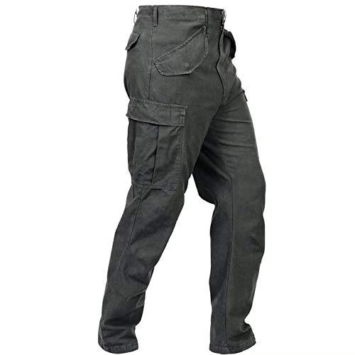 ROYIYI Pantalones para Hombre Casual Pantalones de Trabajo - Pantalon de Seguridad de Hombre - con Bolsillos - Multibolsillos Pantalones de Trekking (Gris, XXXL)