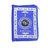 Chenso bewegliche wasserdichte muslimischen Gebetsteppich Teppich mit Kompass Weinlese-Muster islamischen Eid-Dekoration-Geschenk-Taschen-Sized-Beutel-Reißverschluss-Art
