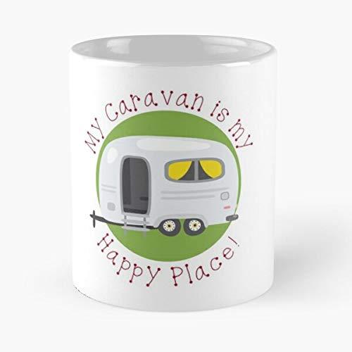 Place Site Happy Caravanner Caravanners Caravan Camp Trailer Caravanning Camping Caravans Best 11 oz Kaffeebecher - Nespresso Tassen Kaffee Motive