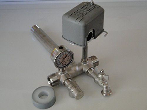 STAINLESS STEEL 1.25 x 14 Tank Tee Kit Installation Water Well Pressure Tank with SQUARE D 40/60 FSG2 pressure switch
