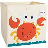 ELLEMOI Boîte de Rangement pour Jouets Pliable Grande capacité Coffres à Jouets pour Chambre des Enfants Cube de Rangement pour Jouets, Livres, Puzzles, Habits (Crabe)