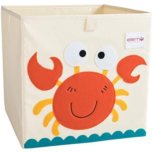 ELLEMOI Aufbewahrungsboxen für Kinderzimmer Große Kapazität Faltbar Aufbewahrung Spielzeug, Kleidung, Schuhe Aufbewahrungsbox (Krabbe)
