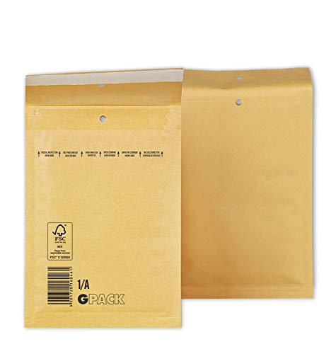 200 Luftpolsterumschläge 120 x 175 mm | Luftpolstertasche A1 | braune Versandtasche DIN A6 | verschiedene Mengen wählbar