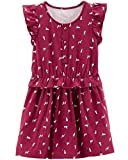 Carter's Baby Girl's 2-Piece Dog Print Ruffle Dress and Diaper Cover Set