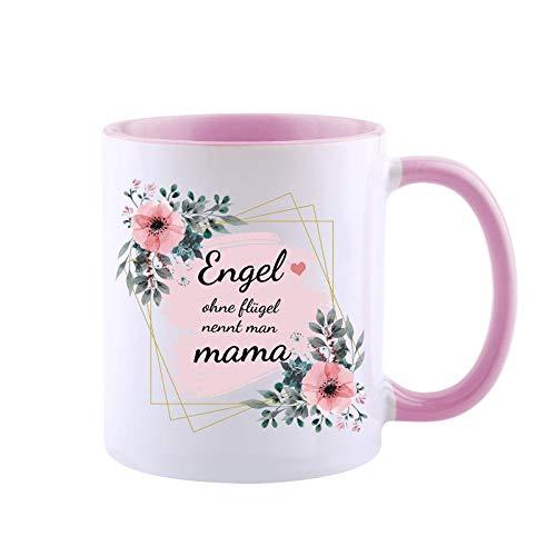 Muttertag Kaffeebecher -- Tasse Engel Ohne Flügel Nennt Man Mama Geschenk für Mama Muttergeschenk Von Sohn / Tochter Keramikbecher Mit Warmem Satz,Blume,Schöne Bilder (Engel Mutter 2)