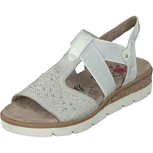 Relife Damen Schuhe Sandalen 9717-19708-01 bis Gr.44 in 2 Farben (43 EU, Weiß)