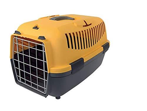 Vetrineinrete® Trasportino per Cani e Gatti da Auto Portata 5 kg da Viaggio con Manico per Animali Domestici 93366 (Giallo) D4