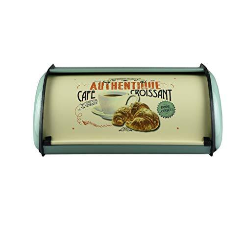 Distribuidor Francés Vintage Azul Caja de Pan Contenedor de Almacenamiento Bandeja de Comida Contenedor de Cocina Galvanizado Cajas de Refrigerio de Hierro para la Decoración Casera frascos herméticos
