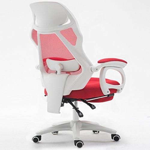 Guo shop- Nouveau, chaises matérielles d'ordinateur de maille, chaises de famille de bureau, chaises de panneau de pied (couleurs multiples) Bonne chaise (Couleur : Rouge)