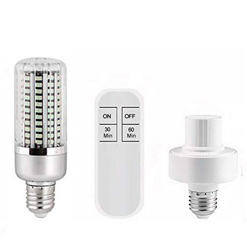 40W UV Sterilisator Lamp, 130 LED-lamp kralen E27 Corn Bollen Portable UV-lampen UVC lichtpunt Air Filter voor huisdieren,Lamp + Remote Control