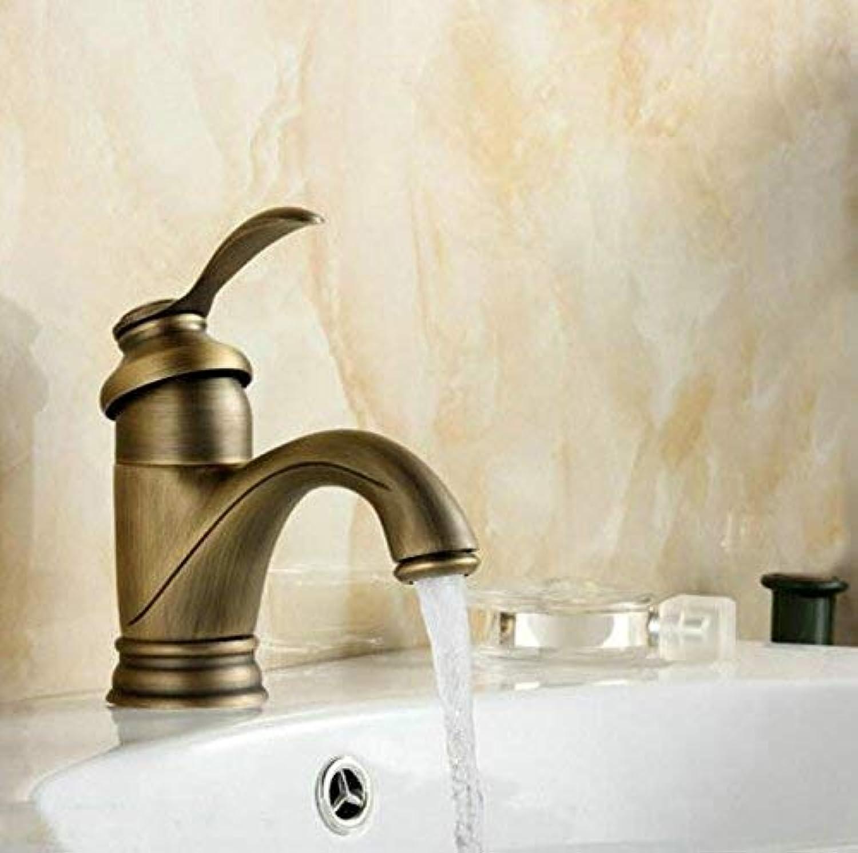 Oudan Classical 6  Antique Brass Faucet Bathroom Faucets Crane Sink Basin Mixer Tap 7203 (color   -, Size   -)