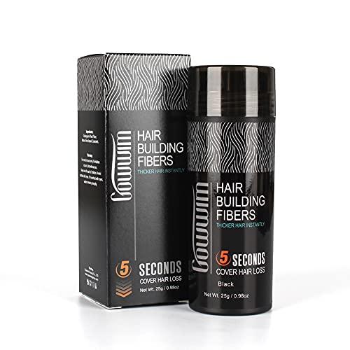 gowwim Poudre Densifiante,Poudre Cheveux Hair Building Fibers, Utilisé de la calvitie avec des cheveux clairsemés (Brun moyen)