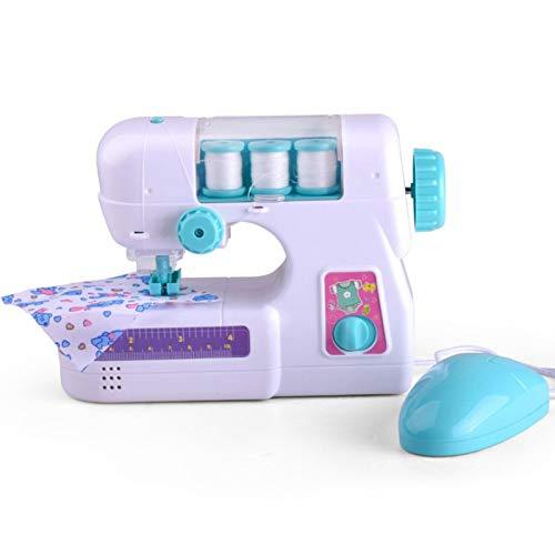 GOOCO Kindernähmaschine, Nähmaschine Kit Kleine Haushalt Manuelle Elektrische Kinder Mini Tragbare Nähmaschine Haushalt Spielzeug Set Für Kinder DIY Geschenk, Basteln