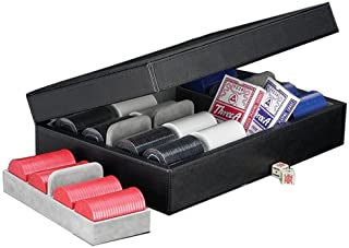 Luxury Poker Set, 320 8.8 grams Chips, Cards & Dice, Black Leather Case
