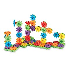Different every time you build, this versatile, interconnecting gear set fosters imagination and provides opportunities to experiment with simple mechanics and science Supports STEM by introducing children to sorting, grouping, counting, designing, c...