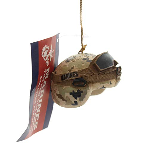 Kurt S. Adler US Marine Corps USMC Camouflage Combat Helmet Christmas Ornament