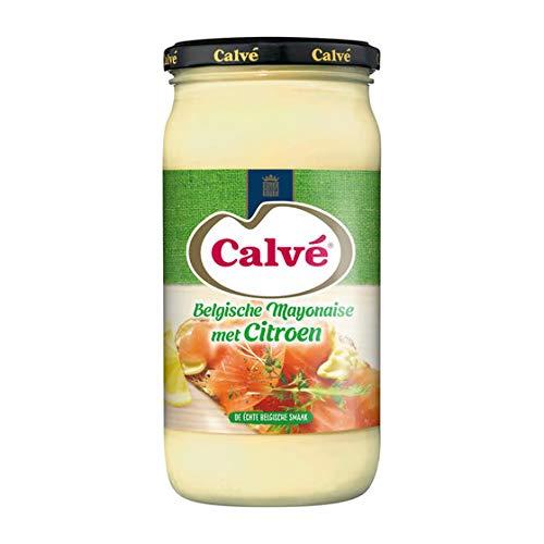 Calvé - Mit Zitrone Belgische Mayonnaise - Leicht säuerlich mit einem Hauch Zitrone - 500ml