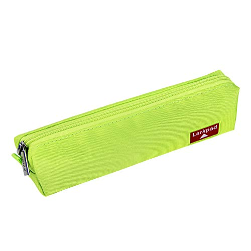 Larkpad Pen Case Pencil Bag Portable Nylon Storage Pouch Marker Stationery Bag Holder for Office-Green